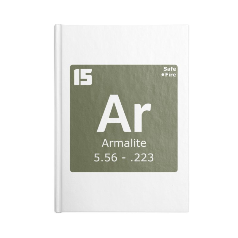 AR-15 Armalite Periodic Table Accessories Blank Journal Notebook by Pixel Panzers's Merchandise