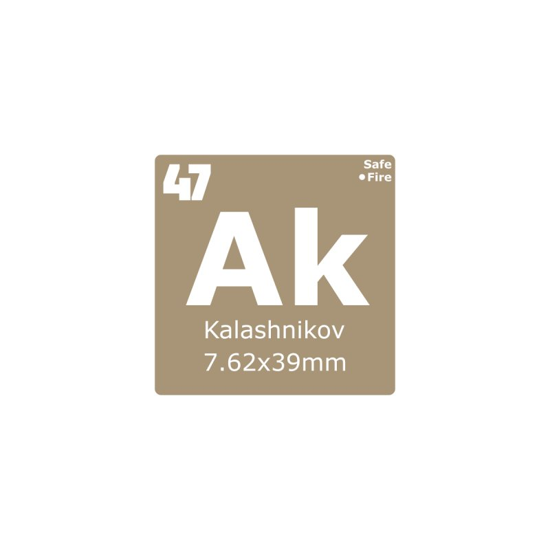 AK-47 Kalashnikov Periodic Table by Pixel Panzers's Merchandise