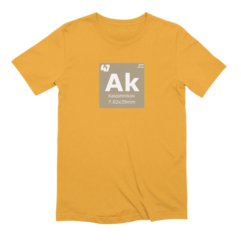 AK-47 Kalashnikov Periodic Table Men's Extra Soft T-Shirt by Pixel Panzers's Merchandise