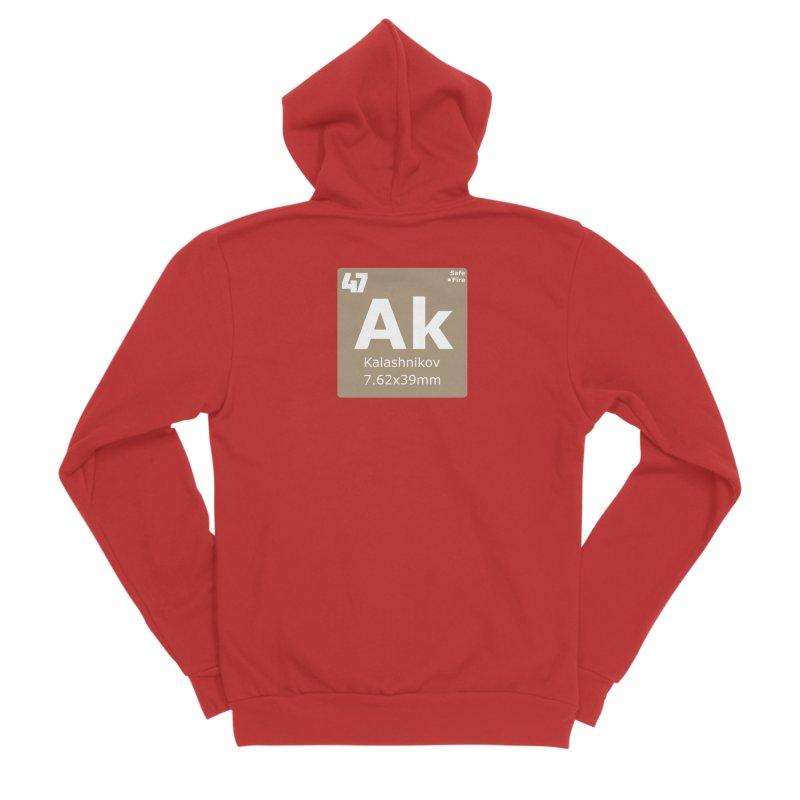 AK-47 Kalashnikov Periodic Table Men's Sponge Fleece Zip-Up Hoody by Pixel Panzers's Merchandise