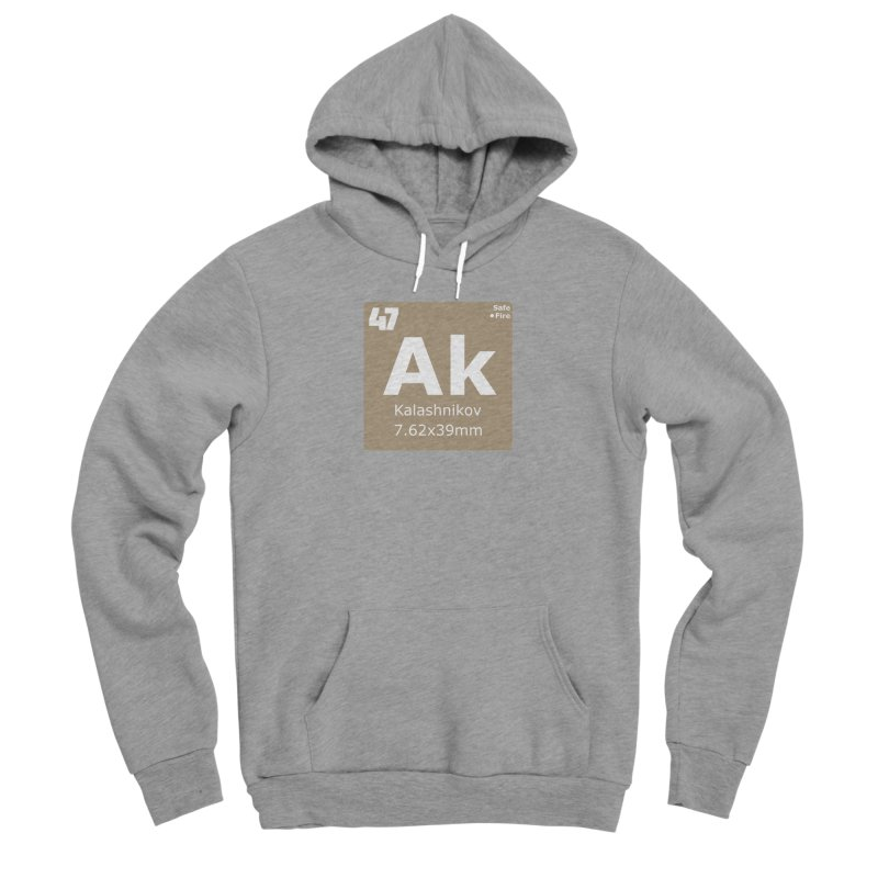 AK-47 Kalashnikov Periodic Table Men's Sponge Fleece Pullover Hoody by Pixel Panzers's Merchandise