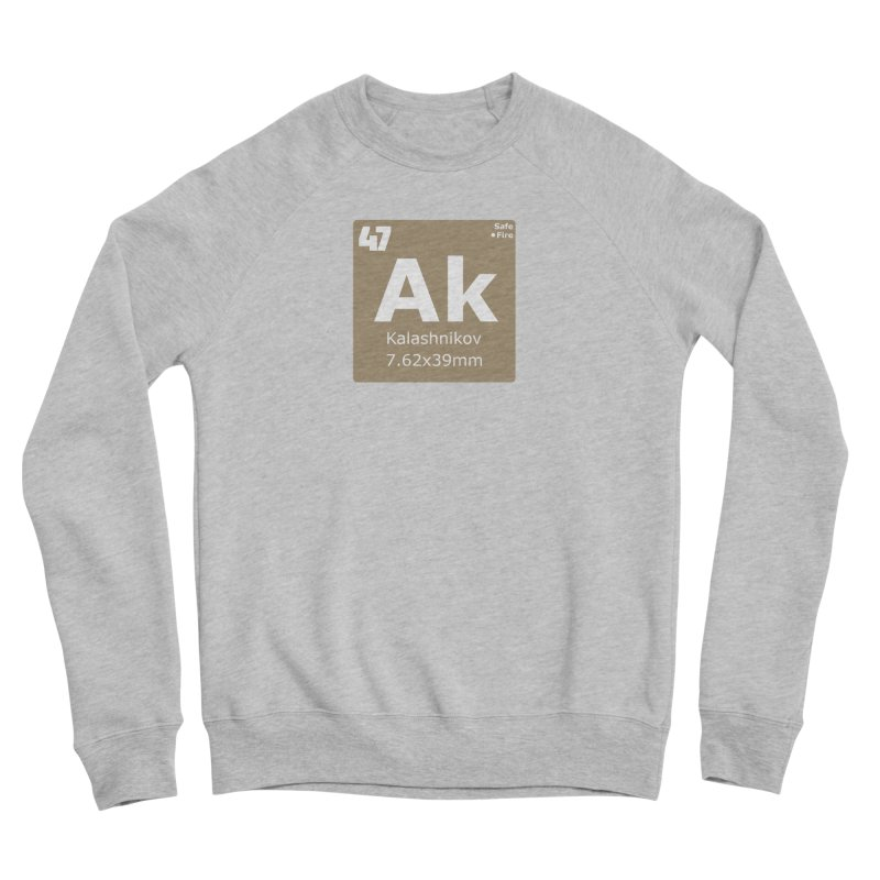 AK-47 Kalashnikov Periodic Table Men's Sponge Fleece Sweatshirt by Pixel Panzers's Merchandise