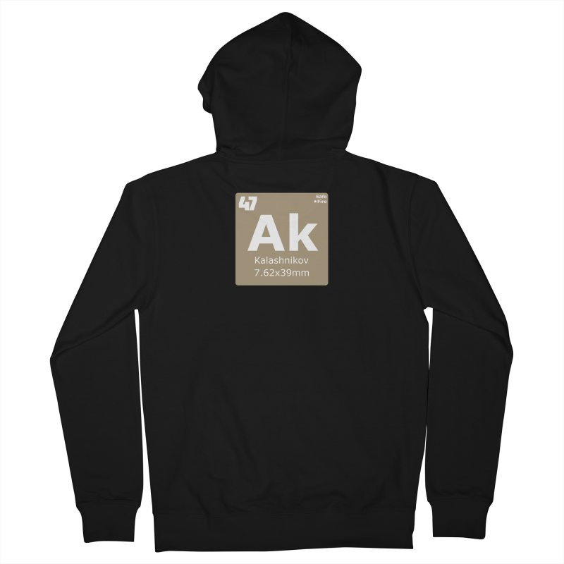 AK-47 Kalashnikov Periodic Table Men's French Terry Zip-Up Hoody by Pixel Panzers's Merchandise