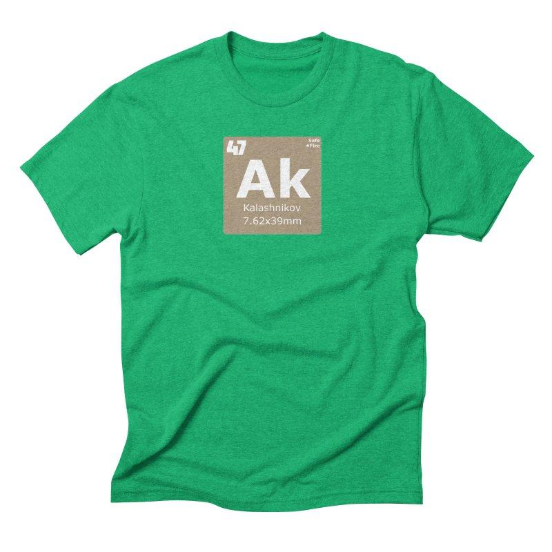 AK-47 Kalashnikov Periodic Table Men's Triblend T-Shirt by Pixel Panzers's Merchandise