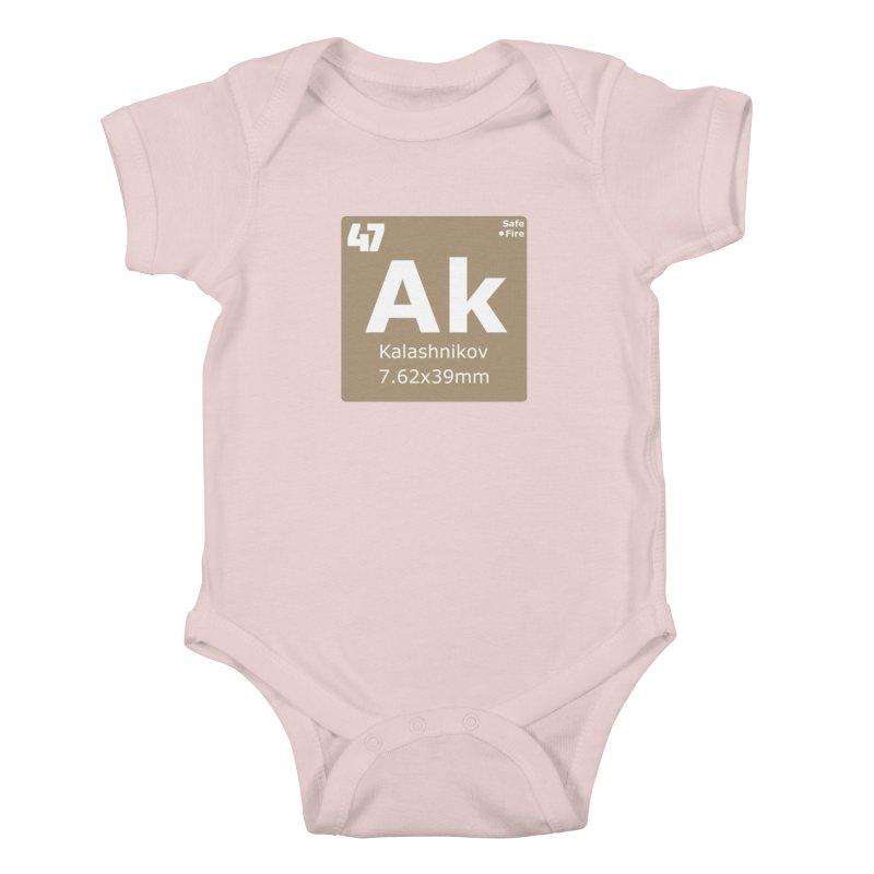 AK-47 Kalashnikov Periodic Table Kids Baby Bodysuit by Pixel Panzers's Merchandise