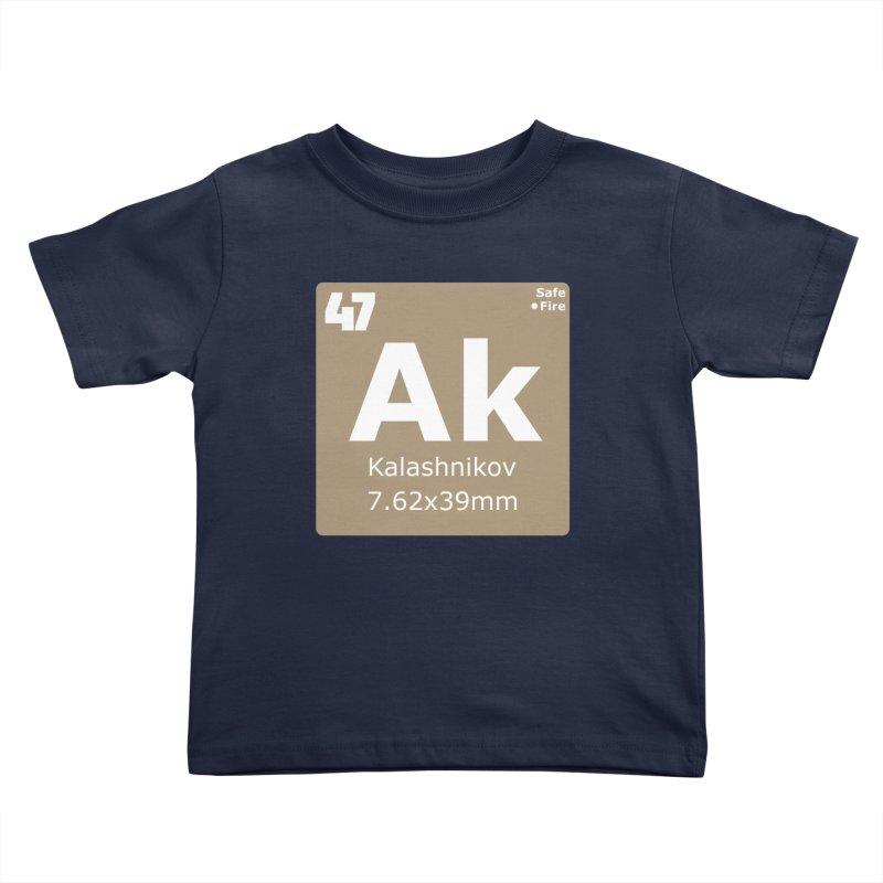 AK-47 Kalashnikov Periodic Table Kids Toddler T-Shirt by Pixel Panzers's Merchandise