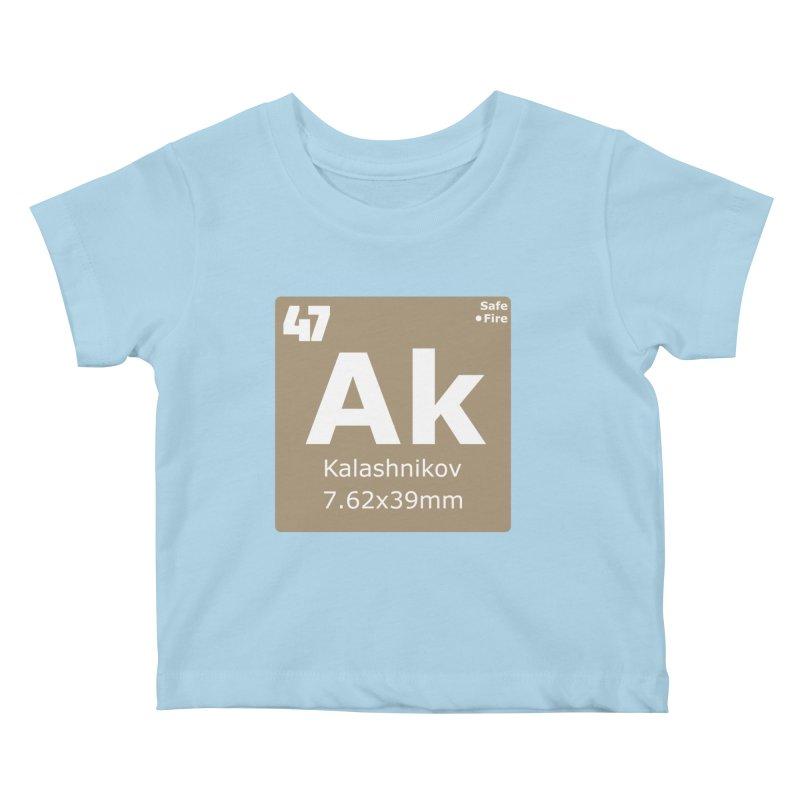 AK-47 Kalashnikov Periodic Table Kids Baby T-Shirt by Pixel Panzers's Merchandise