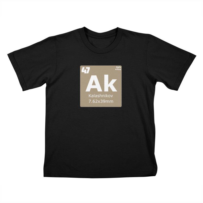 AK-47 Kalashnikov Periodic Table Kids T-Shirt by Pixel Panzers's Merchandise