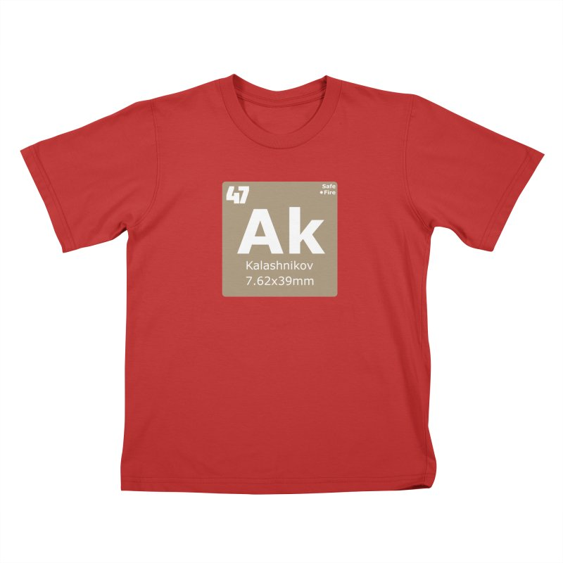 AK-47 Kalashnikov Periodic Table Kids T-Shirt by Pixel Panzers's Merchandise