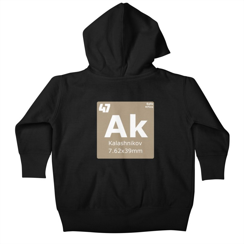 AK-47 Kalashnikov Periodic Table Kids Baby Zip-Up Hoody by Pixel Panzers's Merchandise