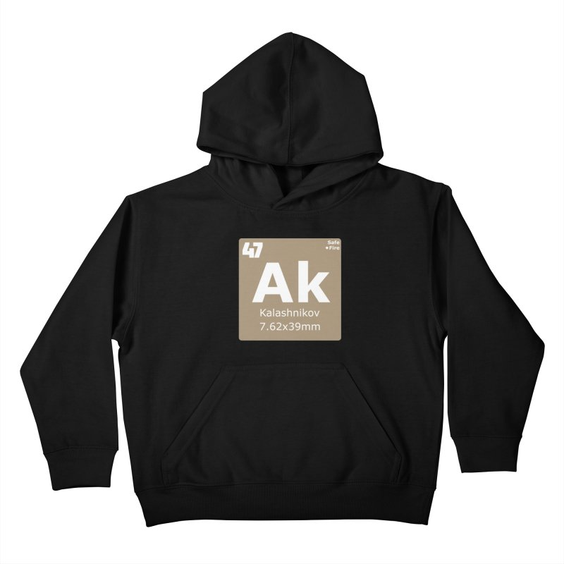 AK-47 Kalashnikov Periodic Table Kids Pullover Hoody by Pixel Panzers's Merchandise