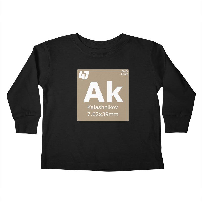 AK-47 Kalashnikov Periodic Table Kids Toddler Longsleeve T-Shirt by Pixel Panzers's Merchandise