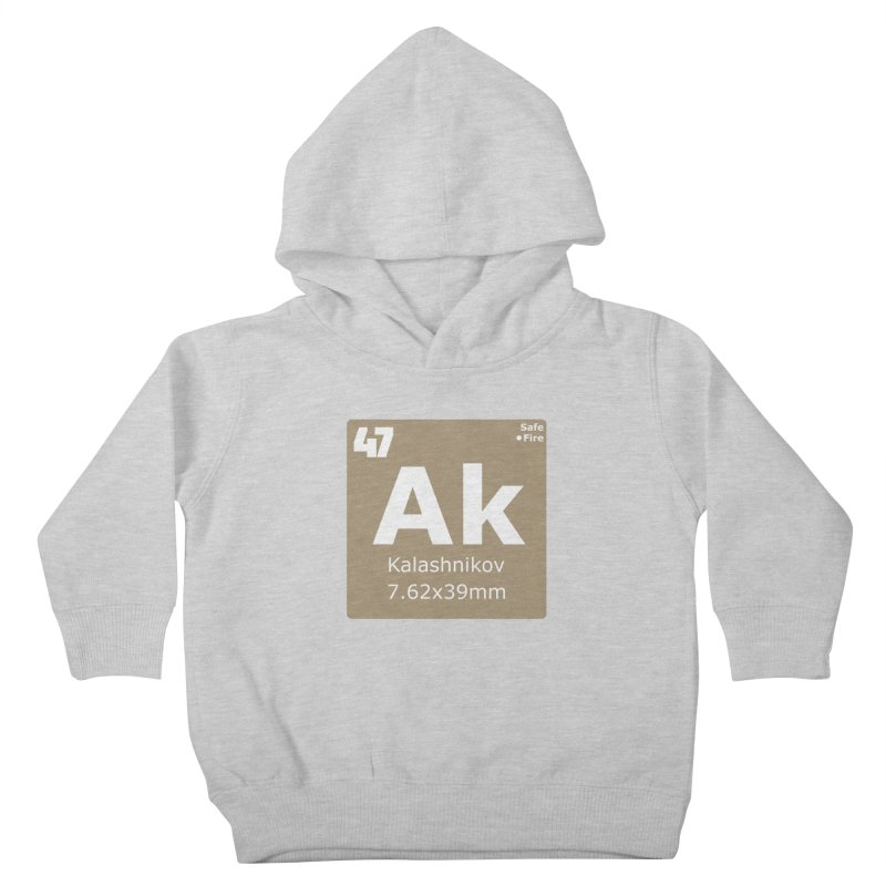 AK-47 Kalashnikov Periodic Table Kids Toddler Pullover Hoody by Pixel Panzers's Merchandise