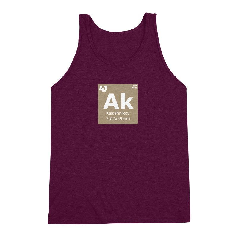 AK-47 Kalashnikov Periodic Table Men's Triblend Tank by Pixel Panzers's Merchandise