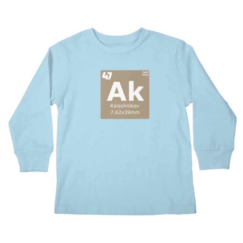 AK-47 Kalashnikov Periodic Table Kids Longsleeve T-Shirt by Pixel Panzers's Merchandise