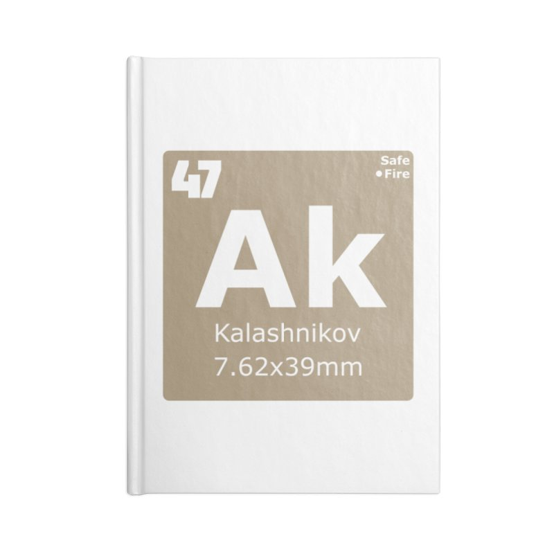 AK-47 Kalashnikov Periodic Table Accessories Lined Journal Notebook by Pixel Panzers's Merchandise