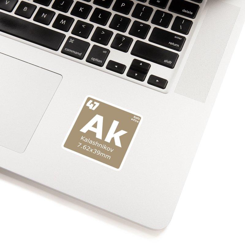 AK-47 Kalashnikov Periodic Table Accessories Sticker by Pixel Panzers's Merchandise