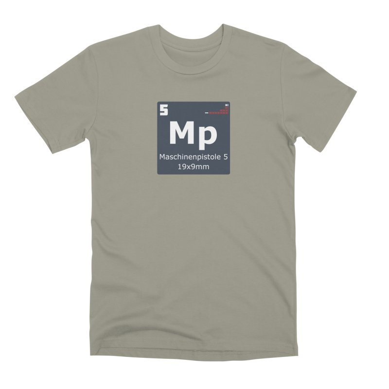 MP5 SubMachine Gun Periodic Table Men's Premium T-Shirt by Pixel Panzers's Merchandise