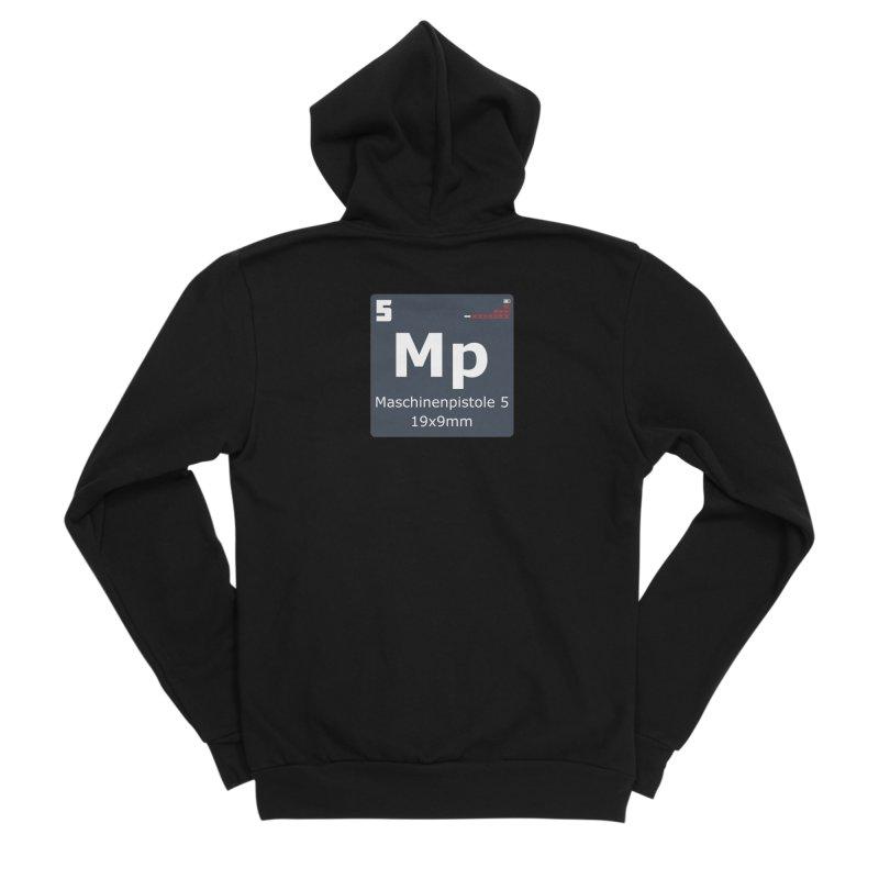 MP5 SubMachine Gun Periodic Table Men's Sponge Fleece Zip-Up Hoody by Pixel Panzers's Merchandise