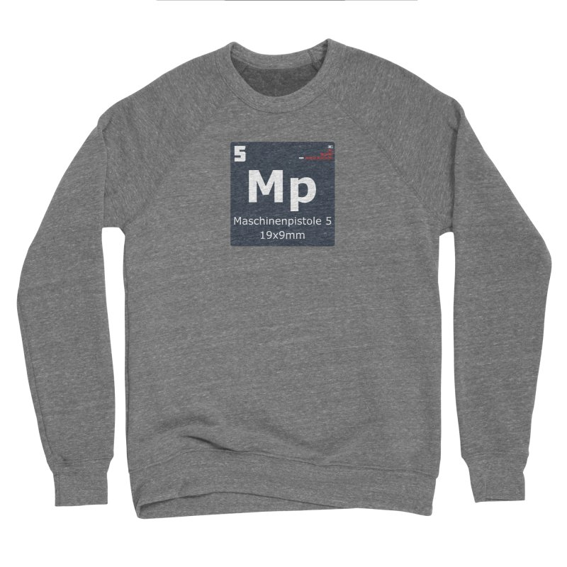 MP5 SubMachine Gun Periodic Table Men's Sponge Fleece Sweatshirt by Pixel Panzers's Merchandise