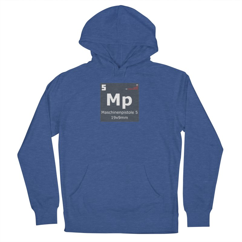 MP5 SubMachine Gun Periodic Table Men's French Terry Pullover Hoody by Pixel Panzers's Merchandise