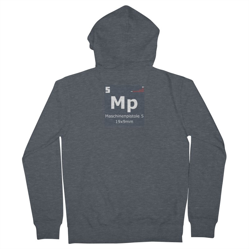MP5 SubMachine Gun Periodic Table Men's French Terry Zip-Up Hoody by Pixel Panzers's Merchandise