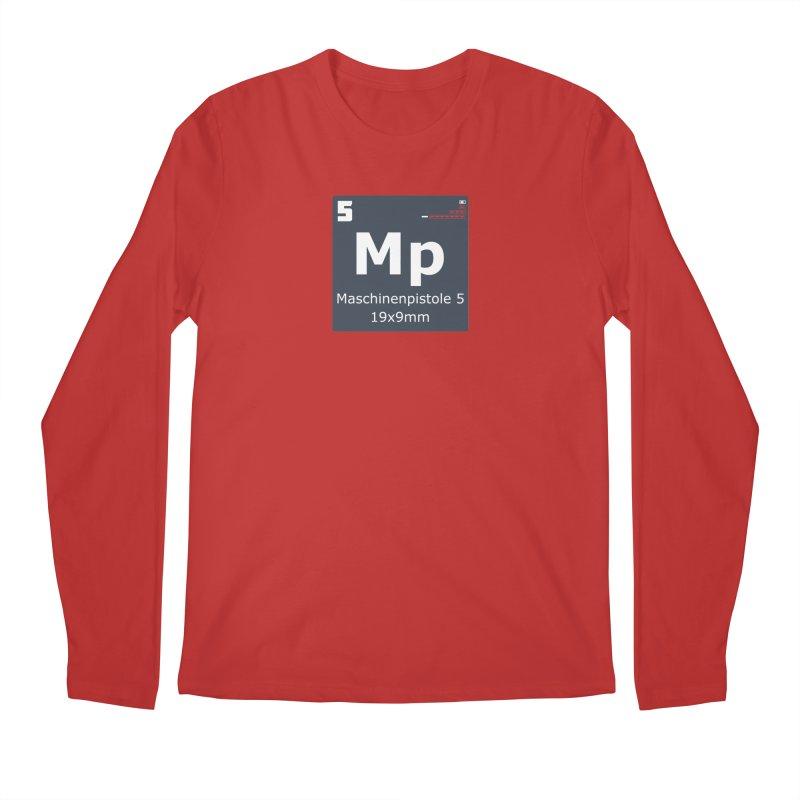 MP5 SubMachine Gun Periodic Table Men's Regular Longsleeve T-Shirt by Pixel Panzers's Merchandise