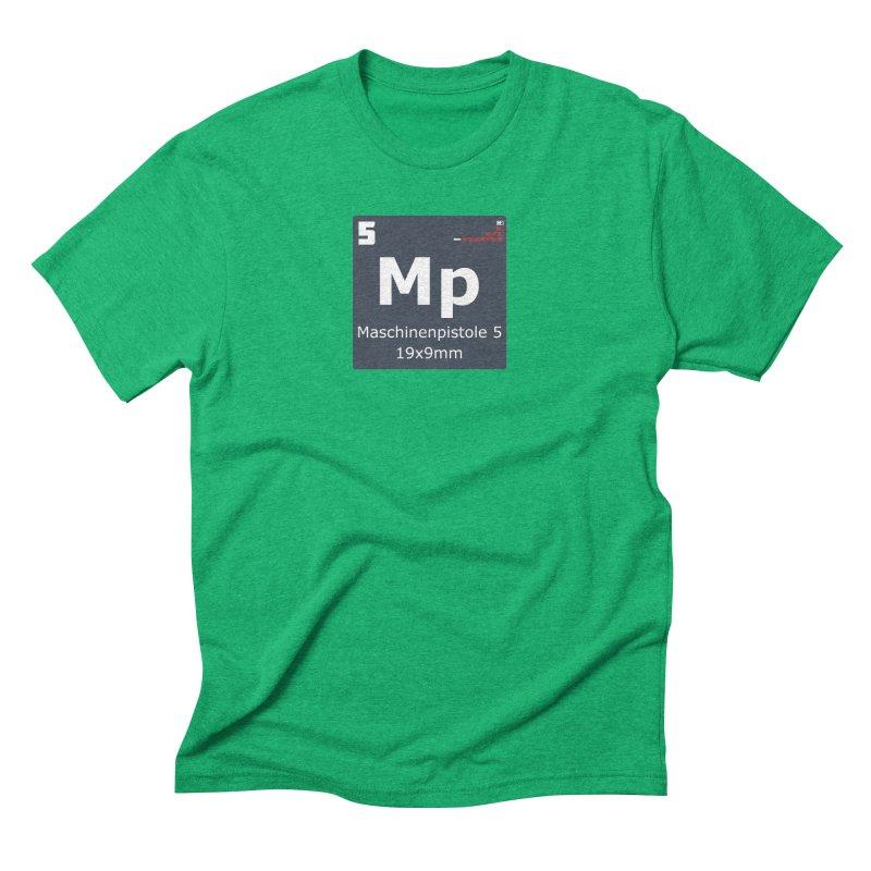 MP5 SubMachine Gun Periodic Table Men's Triblend T-Shirt by Pixel Panzers's Merchandise