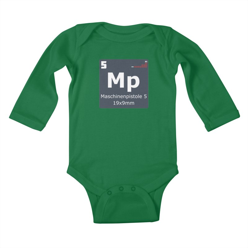 MP5 SubMachine Gun Periodic Table Kids Baby Longsleeve Bodysuit by Pixel Panzers's Merchandise