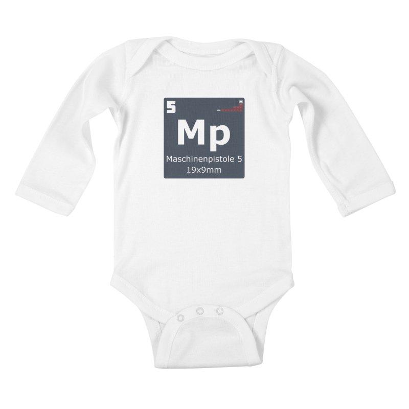 MP5 SubMachine Gun Periodic Table Kids Baby Longsleeve Bodysuit by Pixel Panzers's Merchandise