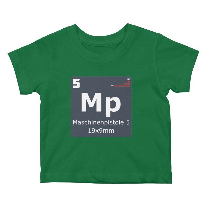 MP5 SubMachine Gun Periodic Table Kids Baby T-Shirt by Pixel Panzers's Merchandise