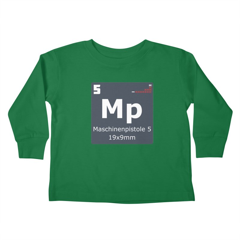 MP5 SubMachine Gun Periodic Table Kids Toddler Longsleeve T-Shirt by Pixel Panzers's Merchandise