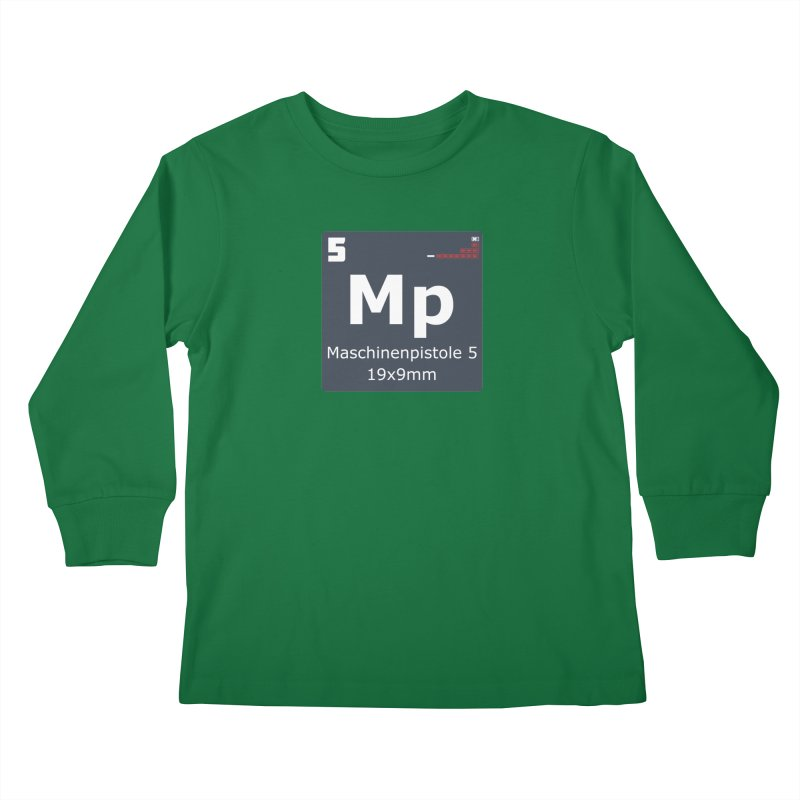 MP5 SubMachine Gun Periodic Table Kids Longsleeve T-Shirt by Pixel Panzers's Merchandise