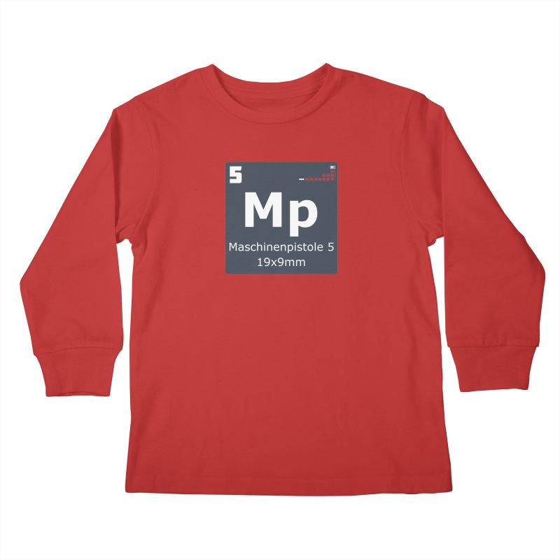 MP5 SubMachine Gun Periodic Table Kids Longsleeve T-Shirt by Pixel Panzers's Merchandise