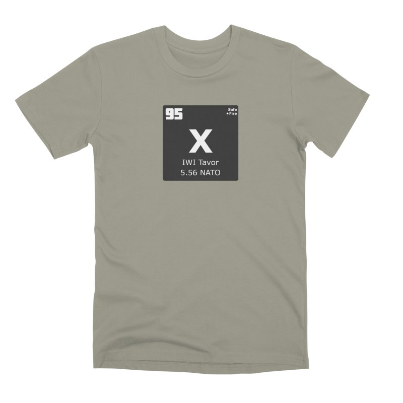 IWI X95 TAVOR Periodic Table Design Men's Premium T-Shirt by Pixel Panzers's Merchandise