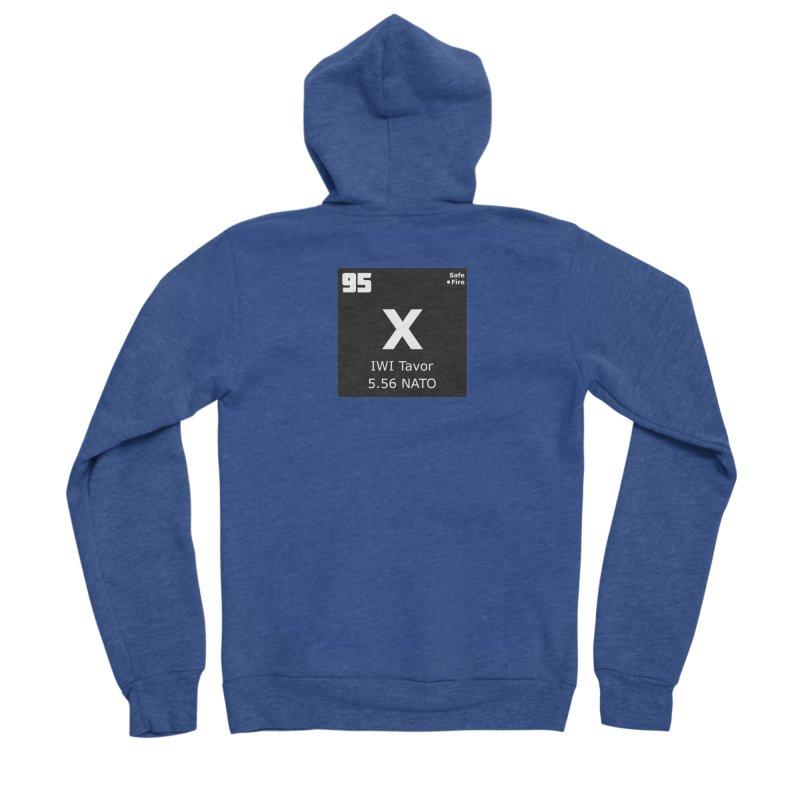 IWI X95 TAVOR Periodic Table Design Men's Sponge Fleece Zip-Up Hoody by Pixel Panzers's Merchandise
