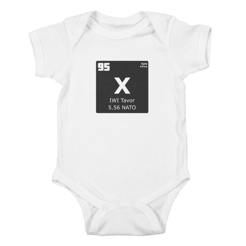 IWI X95 TAVOR Periodic Table Design Kids Baby Bodysuit by Pixel Panzers's Merchandise