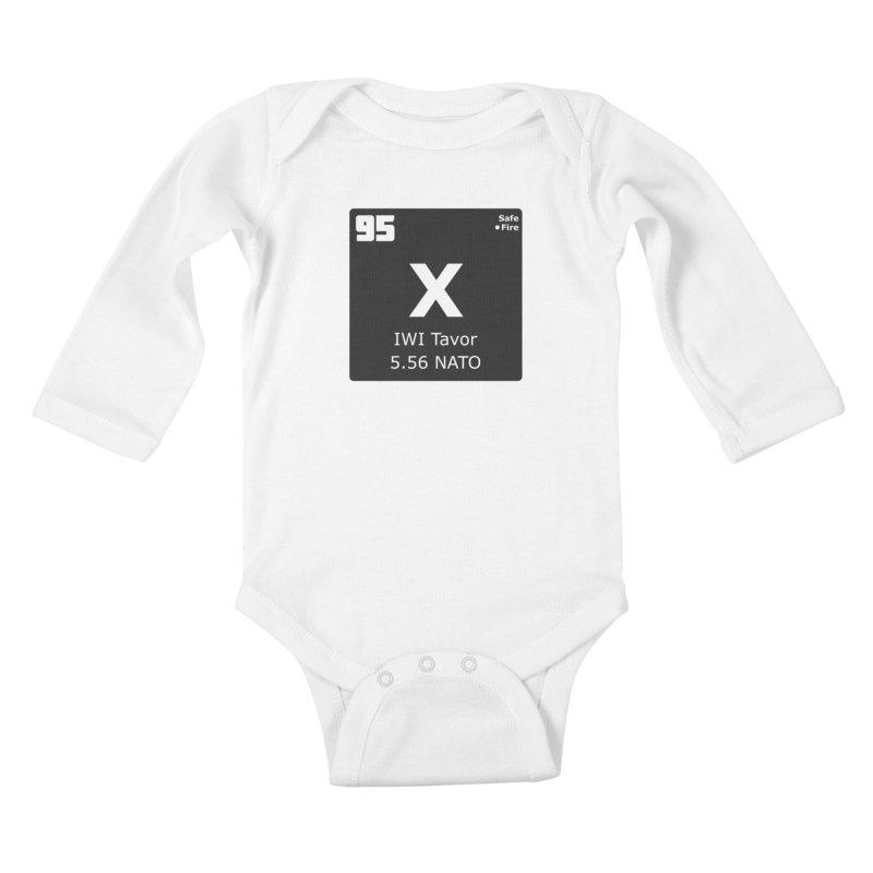 IWI X95 TAVOR Periodic Table Design Kids Baby Longsleeve Bodysuit by Pixel Panzers's Merchandise