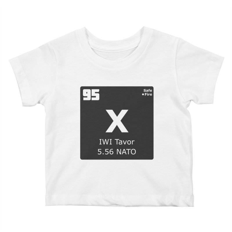 IWI X95 TAVOR Periodic Table Design Kids Baby T-Shirt by Pixel Panzers's Merchandise
