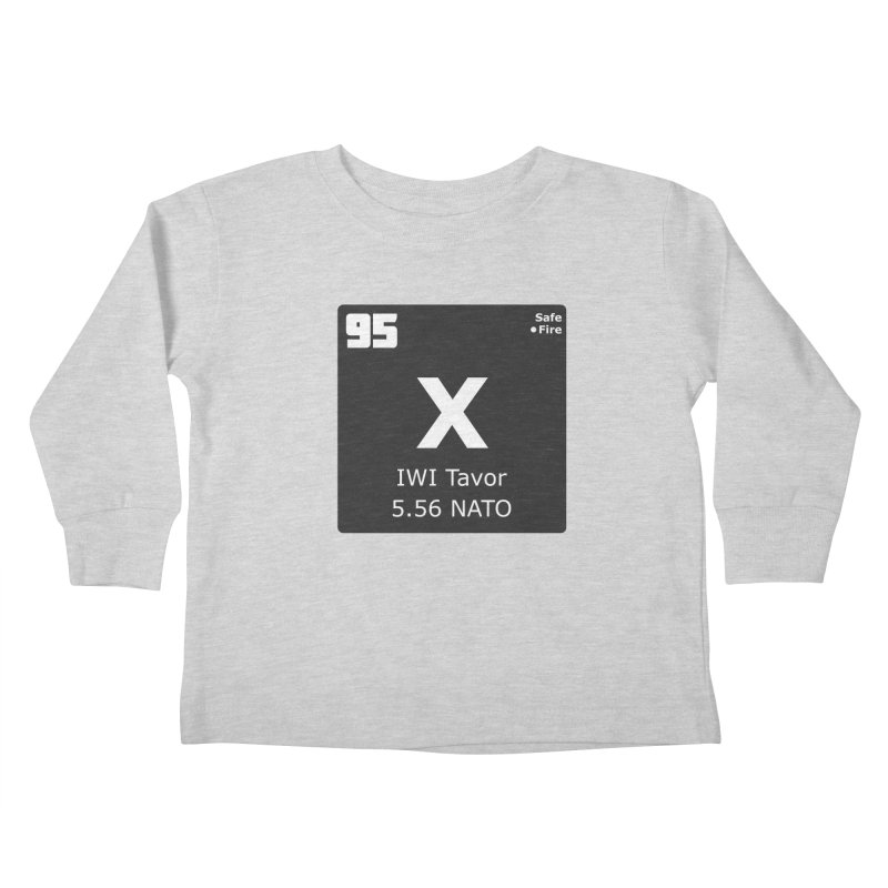 IWI X95 TAVOR Periodic Table Design Kids Toddler Longsleeve T-Shirt by Pixel Panzers's Merchandise
