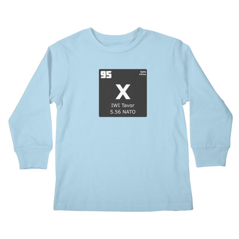 IWI X95 TAVOR Periodic Table Design Kids Longsleeve T-Shirt by Pixel Panzers's Merchandise