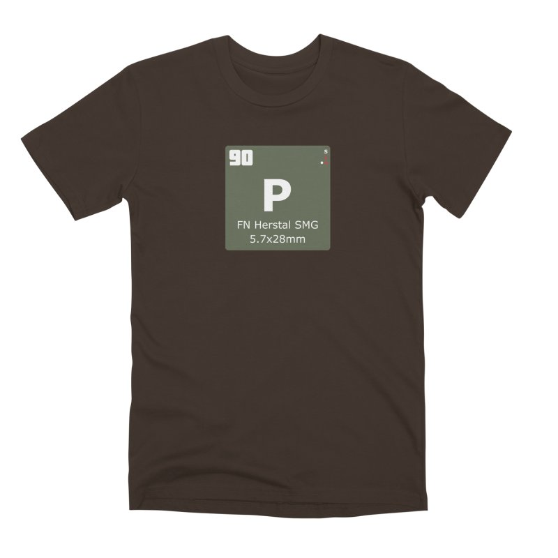 P90 FN Herstal SMG Periodic Table Design Men's Premium T-Shirt by Pixel Panzers's Merchandise