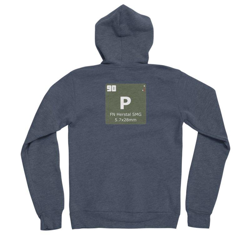 P90 FN Herstal SMG Periodic Table Design Men's Sponge Fleece Zip-Up Hoody by Pixel Panzers's Merchandise