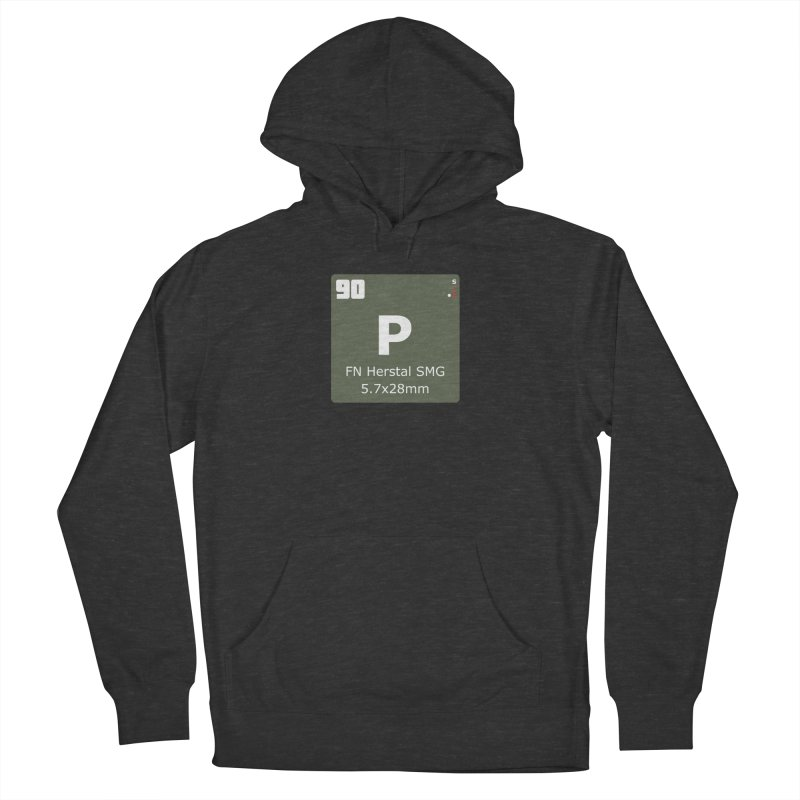 P90 FN Herstal SMG Periodic Table Design Men's French Terry Pullover Hoody by Pixel Panzers's Merchandise