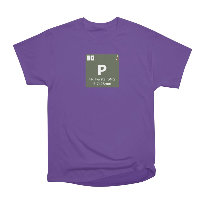 P90 FN Herstal SMG Periodic Table Design Men's Heavyweight T-Shirt by Pixel Panzers's Merchandise