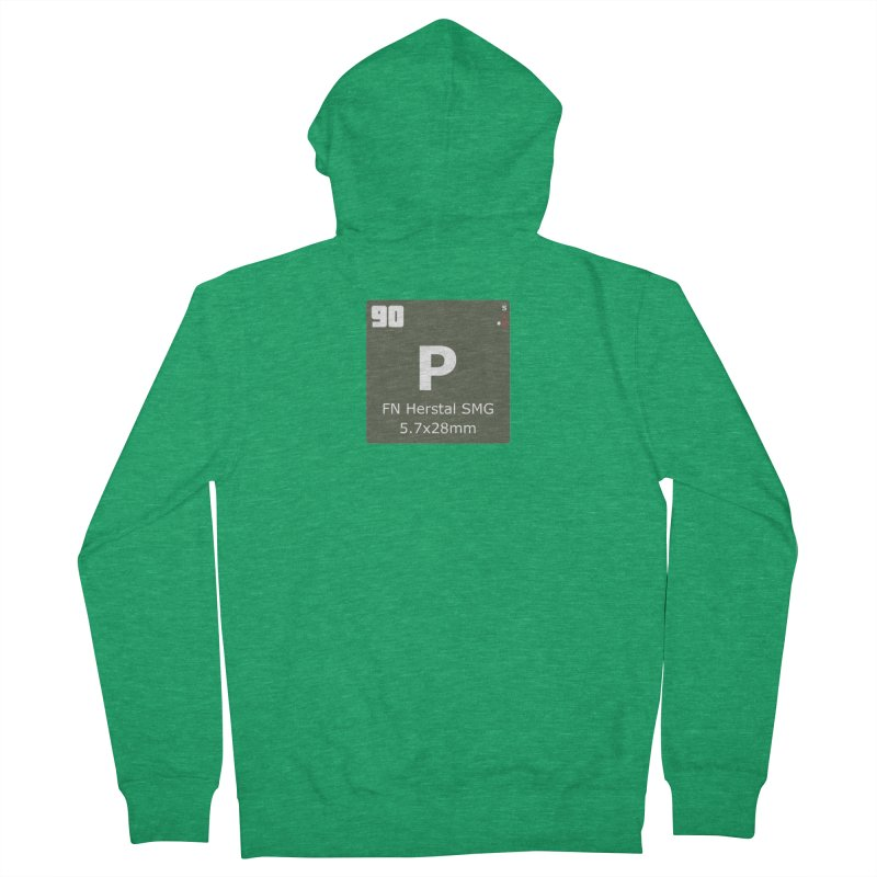 P90 FN Herstal SMG Periodic Table Design Men's French Terry Zip-Up Hoody by Pixel Panzers's Merchandise