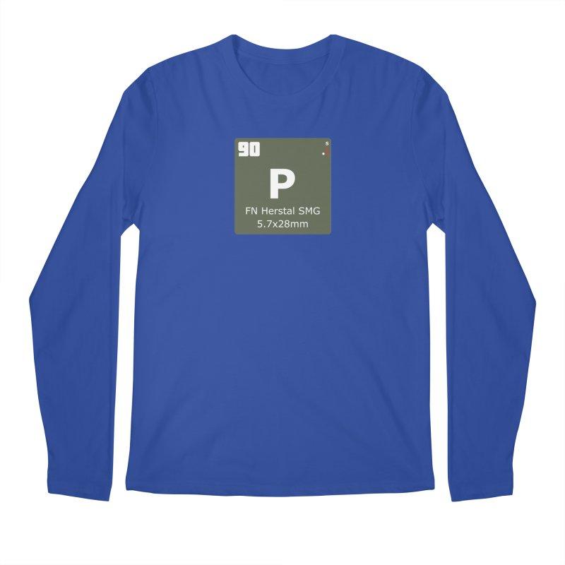 P90 FN Herstal SMG Periodic Table Design Men's Regular Longsleeve T-Shirt by Pixel Panzers's Merchandise