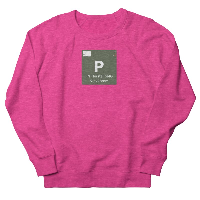 P90 FN Herstal SMG Periodic Table Design Men's French Terry Sweatshirt by Pixel Panzers's Merchandise