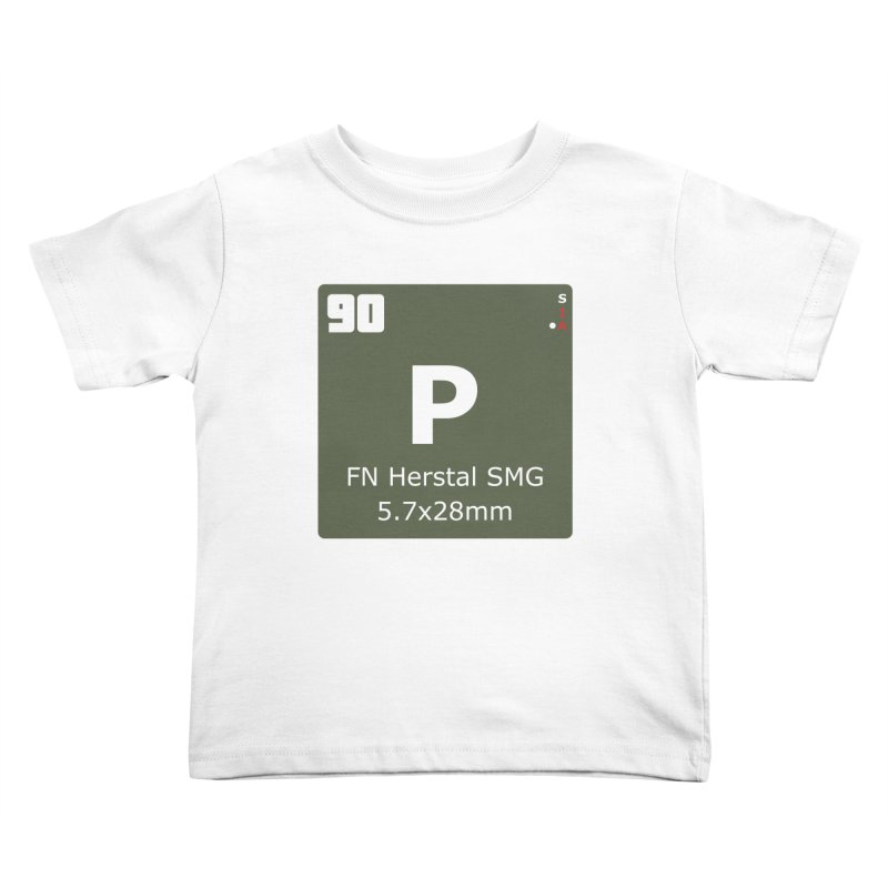 P90 FN Herstal SMG Periodic Table Design Kids Toddler T-Shirt by Pixel Panzers's Merchandise