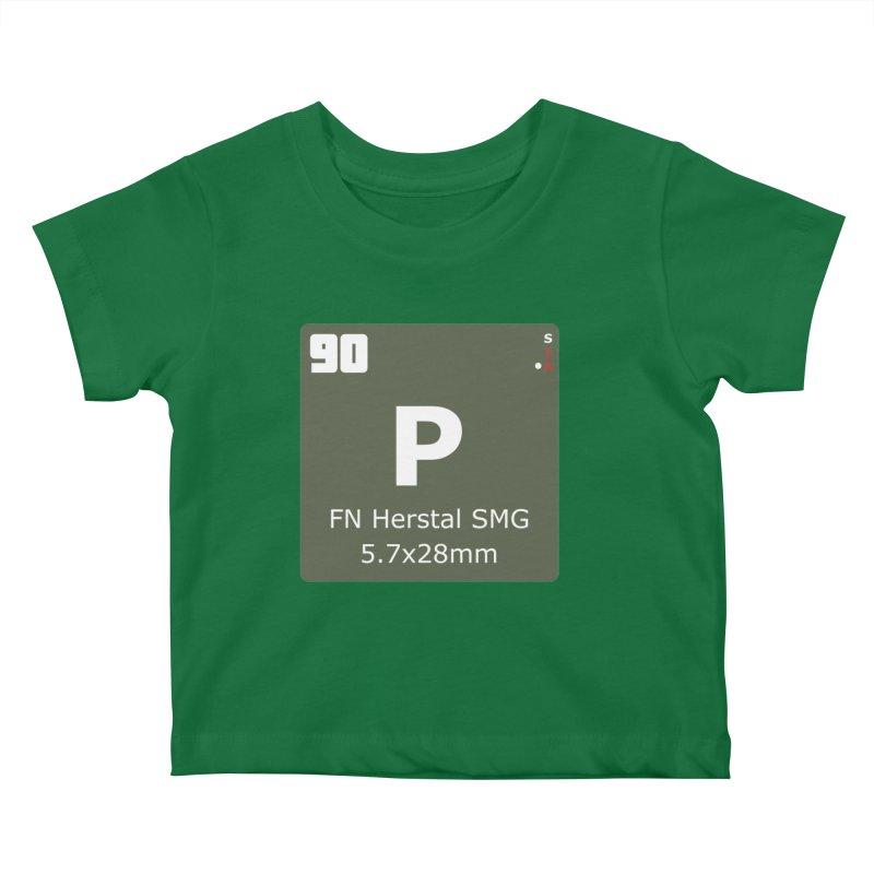 P90 FN Herstal SMG Periodic Table Design Kids Baby T-Shirt by Pixel Panzers's Merchandise